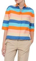 Akris Punto Women's Akris Stripe Cotton & Silk Shirt
