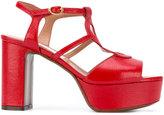 L'Autre Chose platform heel sandals - women - Leather - 36