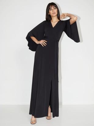 New York & Co. Petite V-Neck Bell-Sleeve Kimono Dress - NY&C Style System