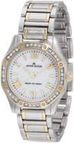 Anne Klein Women's 10/9769MPTT Swarovski Crystal Accented Two-Tone Bracelet Watch