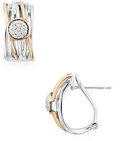 Bloomingdale's Marc & Marcella Diamond Layered Ring Earrings in Sterling Silver & Rose Gold-Plated Sterling Silver, 0.1 ct. t.w. - 100% Exclusive