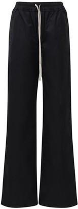 Rick Owens Cotton & Nylon Wide Leg Pants