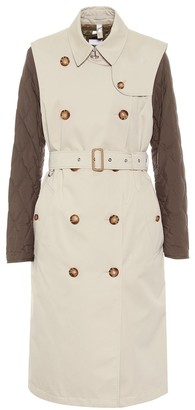 Burberry Convertible cotton trench coat
