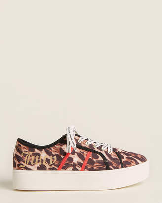Juicy Couture Leopard Bouncy Canvas Platform Sneakers