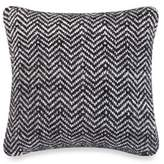 Kenneth Cole Reaction Home Obsidian Chevron Woven Square Throw Pillow in Black/Grey