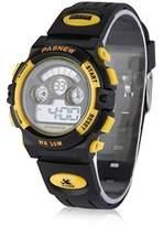 Fanmis New Boys LED Digital Alarm Waterproof Mens Grils Sport Multifunction Watch