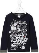 Karl Lagerfeld multiprint longsleeved T-shirt