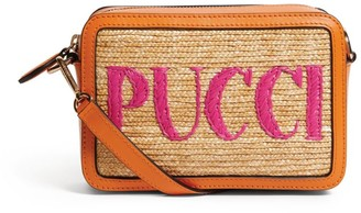Emilio Pucci Embroidered Straw Bag