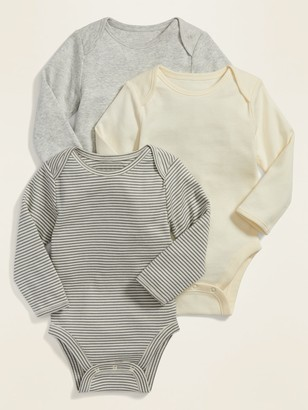 Old Navy Long-Sleeve Bodysuit 3-Pack for Baby
