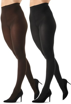 Me Moi Memoi 2-Pack Flat-Knit Tights