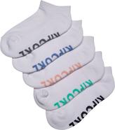 Rip Curl Kids Girls Socks 5 Pack Assorted White