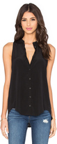 Bella Luxx Pleat Back Button Up Tank