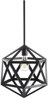 Linea Di Liara Vizerta Industrial Pendant Light With LED Bulb, Black