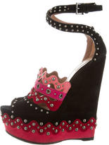 Alaia Studded Wedge Sandals