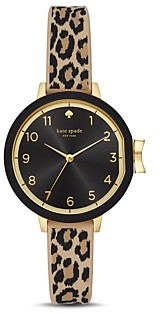 Kate Spade Park Row Leopard Print Watch 34mm