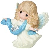 """Precious Moments 161034 Christmas Gifts, """"Guide Us To Thy Perfect Light"""", 6th in Annual Angel Series, Bisque Porcelain Figurine"""