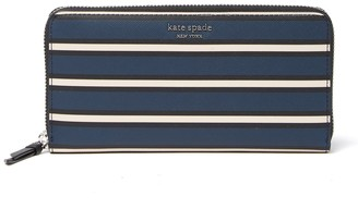 Kate Spade Leather Cameron York Stripe Large Continental Wallet