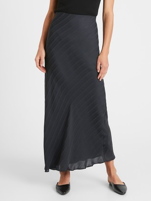 Banana Republic Stripe Bias-Cut Maxi Skirt