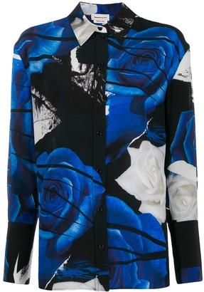 Alexander McQueen Graphic Rose-Print Shirt