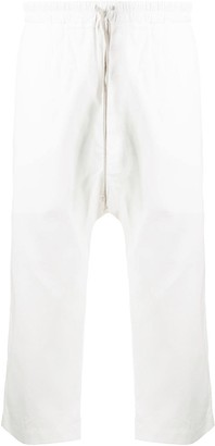 Rick Owens Cropped Drop-Crotch Cargo Pants