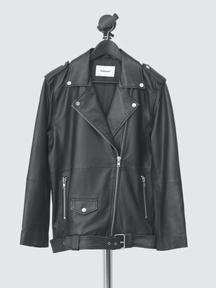 Deadwood Women's Agnes Oversized Leather Biker Jacket