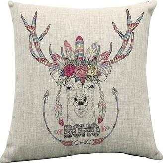 Bungalow Rose Sunray Boho Chic Indoor/Outdoor Linen Throw Pillow