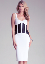 Bebe Patchwork Midi Dress