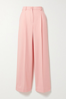 Racil Peter Wool-twill Wide-leg Pants - Baby pink