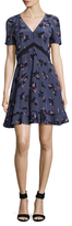 Rebecca Taylor Alyssum Silk Printed Fit And Flare Dress