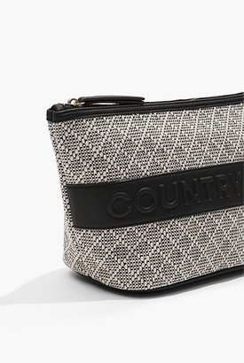 Country Road Embossed Large Cosmetic Bag