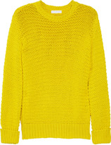 Outboard chunky-knit cotton sweater