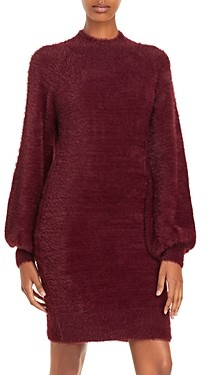 Bardot Bell Sleeve Fuzzy Sweater Dress