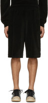 Alexander Wang Black Velour Basketball Shorts