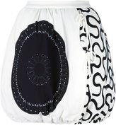 J.W.Anderson side tie drawstring hem skirt - women - Viscose/Spandex/Elastane/Polyamide/Cotton - 0