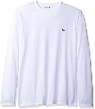 Lacoste Men's Long Sleeve Jersey Pima Regular Fit Crewneck T-Shirt