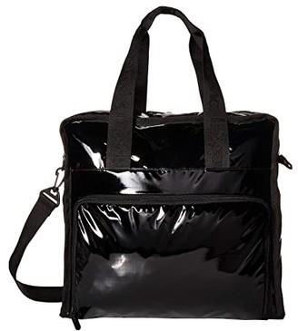 Le Sport Sac Gabrielle Diaper Bag Tote (Black Patent) Diaper Bags