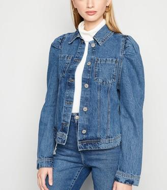 New Look Cameo Rose Denim Puff Sleeve Jacket