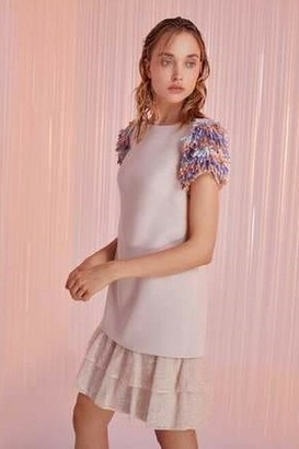 Tony Ward Short Sleeve Mini Cocktail Dress
