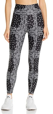 YEAR OF OURS High-Rise Bandana Print Leggings