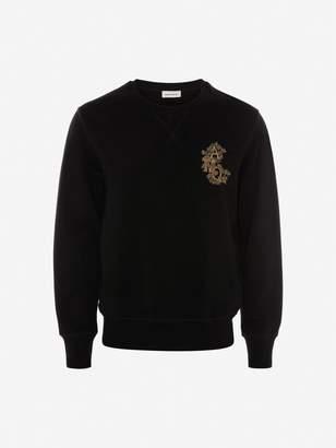 Alexander McQueen Crystal Embroidered Sweatshirt