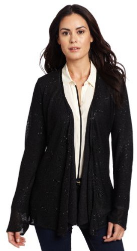 Minnie Rose Women's Cashmere Sweater and Sequin Duster