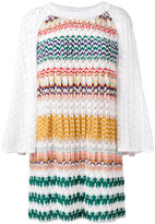 Missoni multi-pattern knitted dress - women - Silk/Spandex/Elastane/Viscose - 40