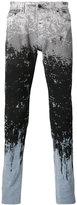 Diesel Black Gold paint splat and stripe skinny jeans - men - Cotton/Spandex/Elastane - 31