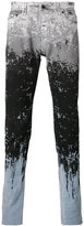 Diesel Black Gold paint splat and stripe skinny jeans - men - Cotton/Spandex/Elastane - 34