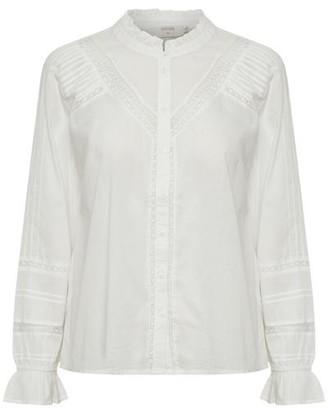Cream Manna Ladies Cotton Lace Shirt - Black / 36