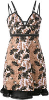 Carven floral jacquard fitted dress - women - Silk/Polyester/Acetate/Viscose - 38