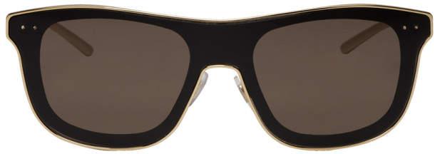Dolce & Gabbana Gold and Black Square Sunglasses