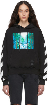 Off-White Black and Multicolor Diag Waterfall Over Hoodie