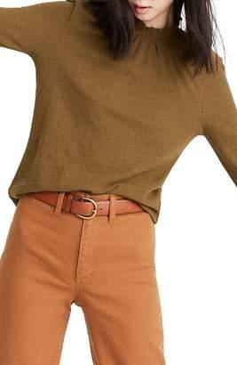 Madewell Texture & Thread Ruffled Mock Neck Top