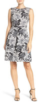 Adrianna Papell Embellished Woven Fit & Flare Dress (Petite Available)